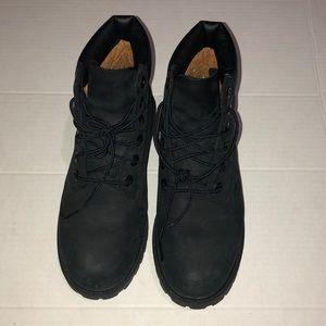 Black Timberland Girls black boots